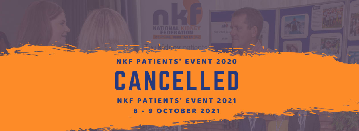NKF's Annual Patients' Event - Cancelled